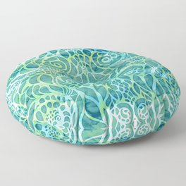 Pattern Background -  Aqua 08 Floor Pillow