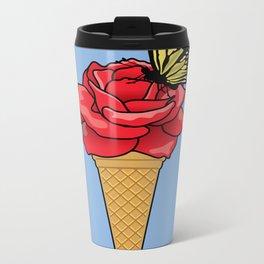 Butterfly Ice Cream Metal Travel Mug