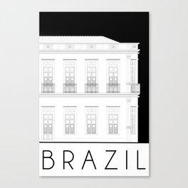 Brazil Facade Canvas Print