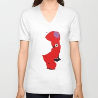 baymax V-neck T-shirts featuring Baymax by Raquel Segal