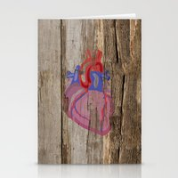 anatomical heart Stationery Cards featuring Anatomical Heart by Kyle Phillips