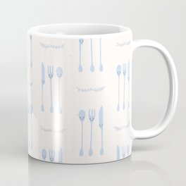Cute set of spoon, knife and fork illustration Coffee Mug