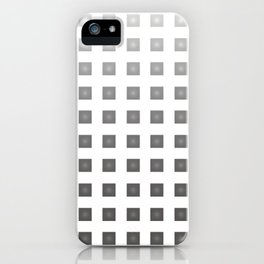 GRAY + WHITE iPhone Case
