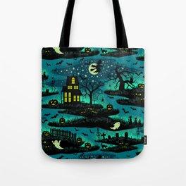 Halloween Night - Fox Fire Green Tote Bag