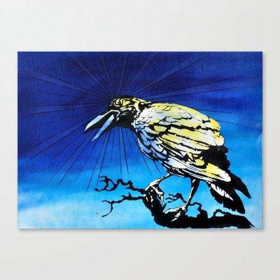 Radiation Crow study Canvas Print