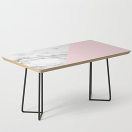 Marble + Pastel Pink Coffee Table