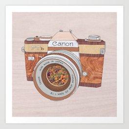 WOOD CAN0N Art Print