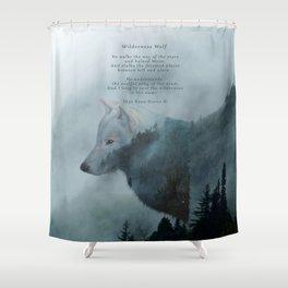 Wilderness Wolf & Poem Shower Curtain