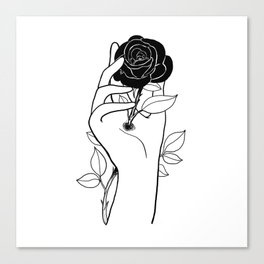 Hurt inside Canvas Print