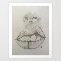 Lips Attitude Art Print