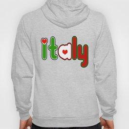 Italy Font with Italian Flag Hoody