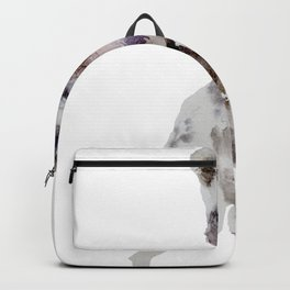 Watercolor African Wild Dog Painting Backpack