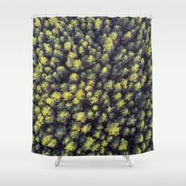 Pines from the top. Shower Curtain