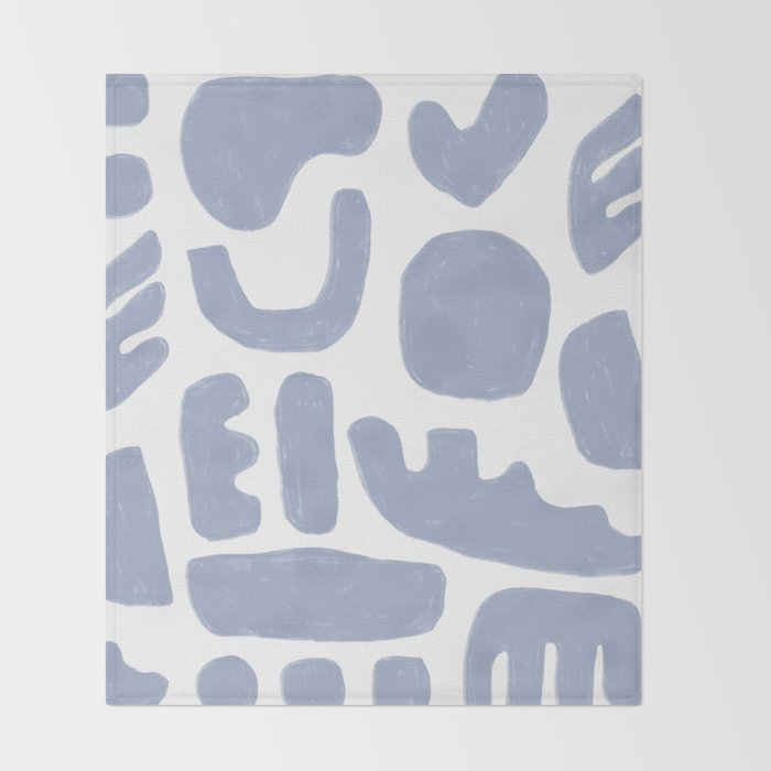 Rock Collection Periwinkle Throw Blanket