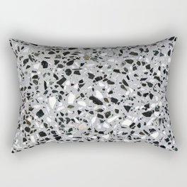 Concrete terrazzo marble texture speckle pattern gray Rectangular Pillow