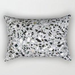 Concrete terrazzo marble texture speckle pattern gray Rectangular Pillow