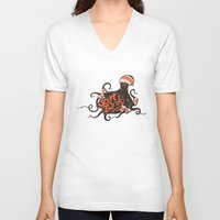 bands V-neck T-shirts featuring octopus sport bands by illusign