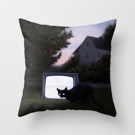 Black Static Throw Pillow