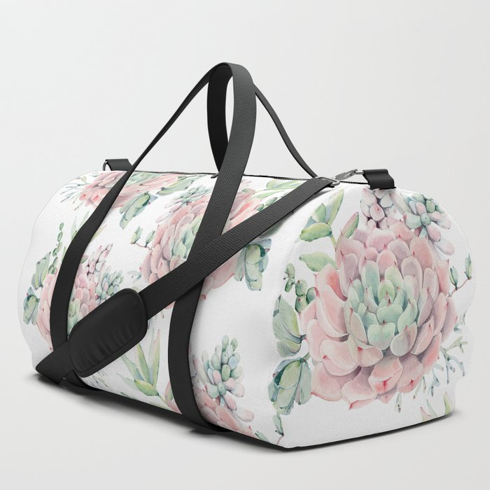 Pink_Succulents_by_Nature_Magick_Duffle_Bag_by_Nature_Magick__SET_OF_3