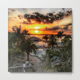 Sanibel Island Sunset Metal Print