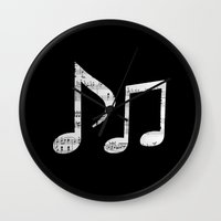 death note Wall Clocks featuring Music note by ArtSchool