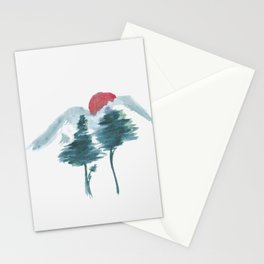 Japanese Alpine Sunset Stationery Cards