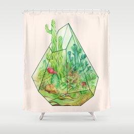 DeserTerrarium Shower Curtain