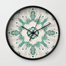 Mandala Greens Wall Clock