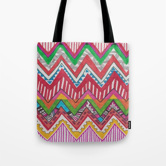 Peruvian Waves Tote Bag