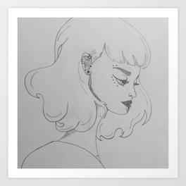Punk Goddess sketch Art Print