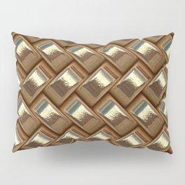 Metal Weave golden Pillow Sham