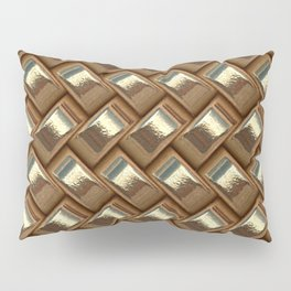 Metal Weave golden Pillow Sham