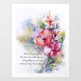 Alluring Blooms by Kathy Morton Stanion Art Print