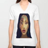 pocahontas V-neck T-shirts featuring Pocahontas by FannikaRial