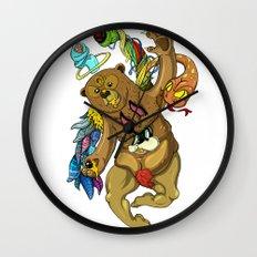 Censored honey eye Wall Clock