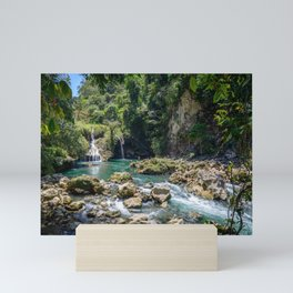 Waterfalls at Semuc Champey Mini Art Print