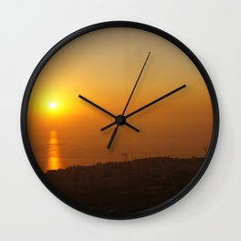 Sunset in Lebanon Wall Clock