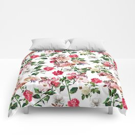 Seamless Floral Pattern Comforters