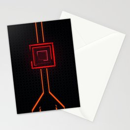 NeoN Orange Stationery Cards