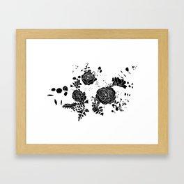 Broken Floral Sketch Framed Art Print