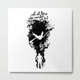 Not Lost Metal Print
