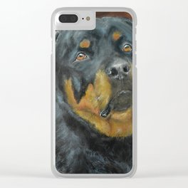 The Rottweiler Clear iPhone Case