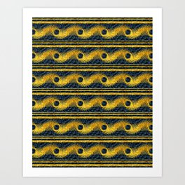 Pavostrom Black and Gold Art Print