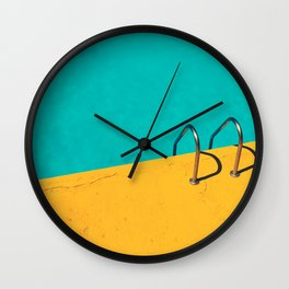 Dive in! minimalistic pool Wall Clock