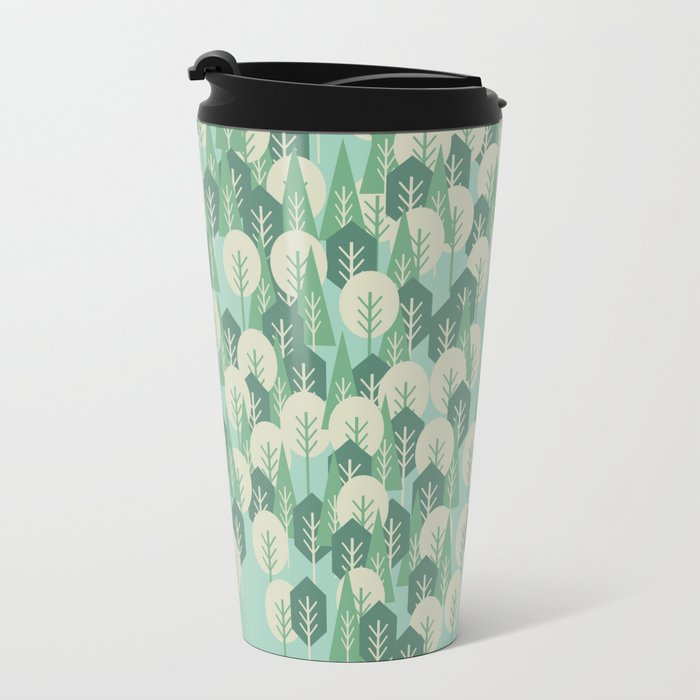 Geometric Woods Travel Mug