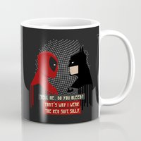 suit Mugs featuring Red suit by Daniac Design