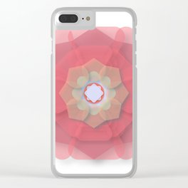 Pink Floral Meditation Clear iPhone Case