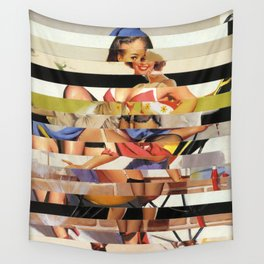 Glitch Pin-Up Redux: Gwen Wall Tapestry