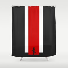 The Effect (FemShep - Clean) Shower Curtain