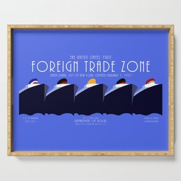 Foreign Trade Zone Staten Island Serving Tray
